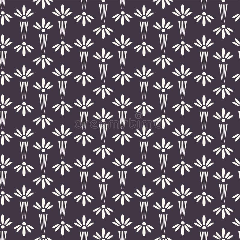 新艺术主义装饰花主题Jugenstil样式 r 在印刷品的现代派时髦黑白照片 库存例证