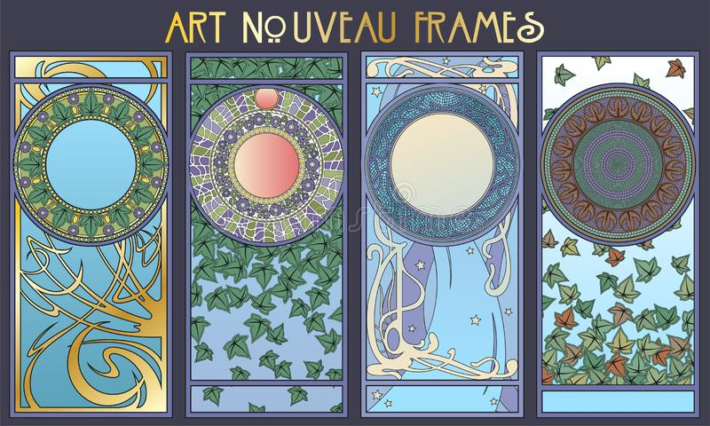新艺术主义Styel装饰框架 库存例证