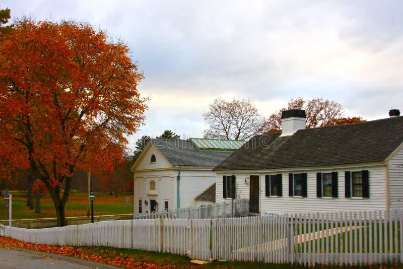 新英国的农舍 库存图片