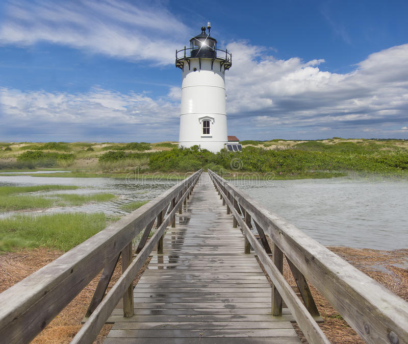 新英格兰灯塔 库存图片