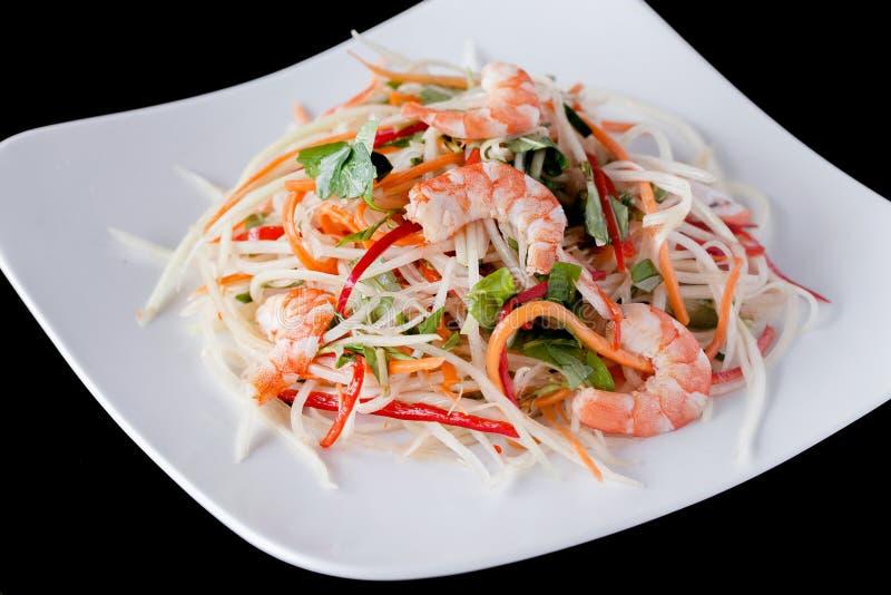新虾沙拉食谱 免版税库存图片