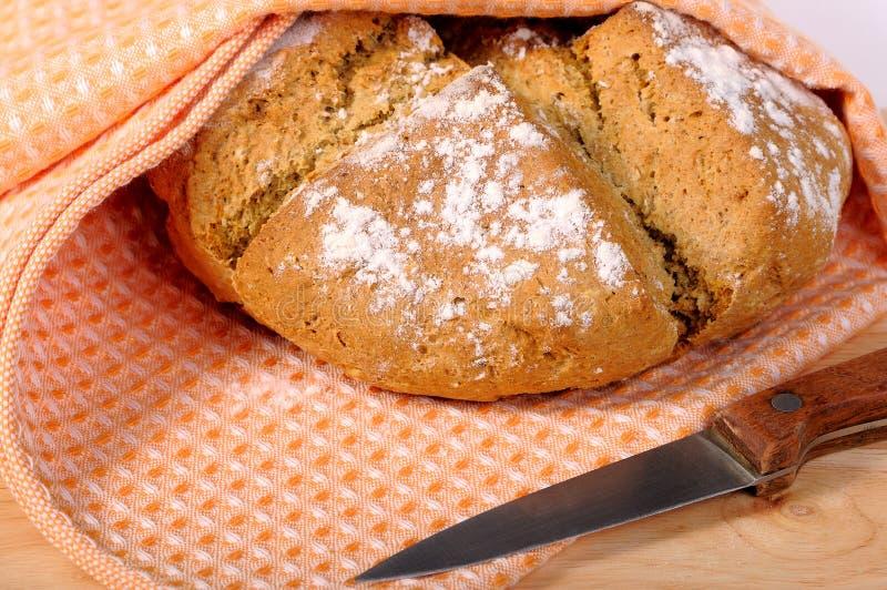 新被烘烤的面包 库存图片