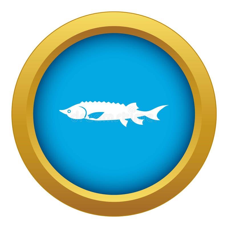 新被隔绝的鲟鱼鱼象蓝色传染媒介 向量例证
