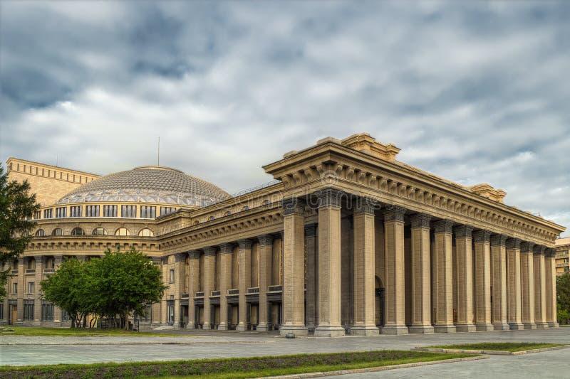 新西伯利亚学术歌剧剧院 库存图片