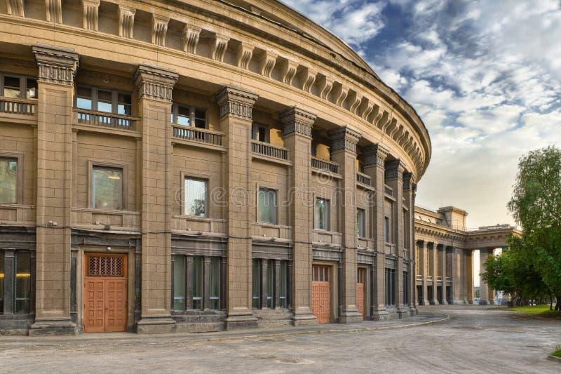 新西伯利亚学术歌剧剧院 图库摄影