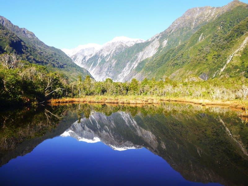 新西兰南岛山,弗朗兹约瑟夫冰川 库存照片