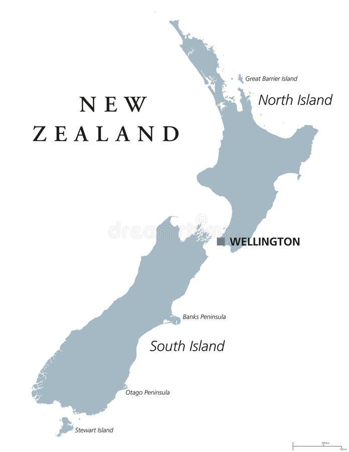 新西兰政治地图 皇族释放例证