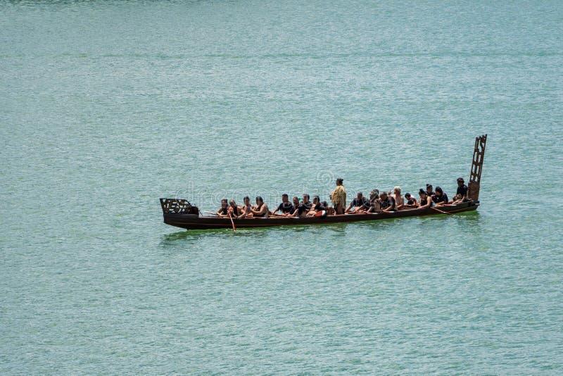 新西兰毛利人Waka 免版税库存照片