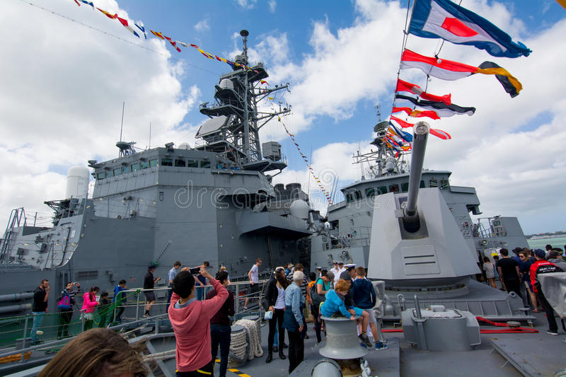 新西兰海军的基础的第75周年 库存照片