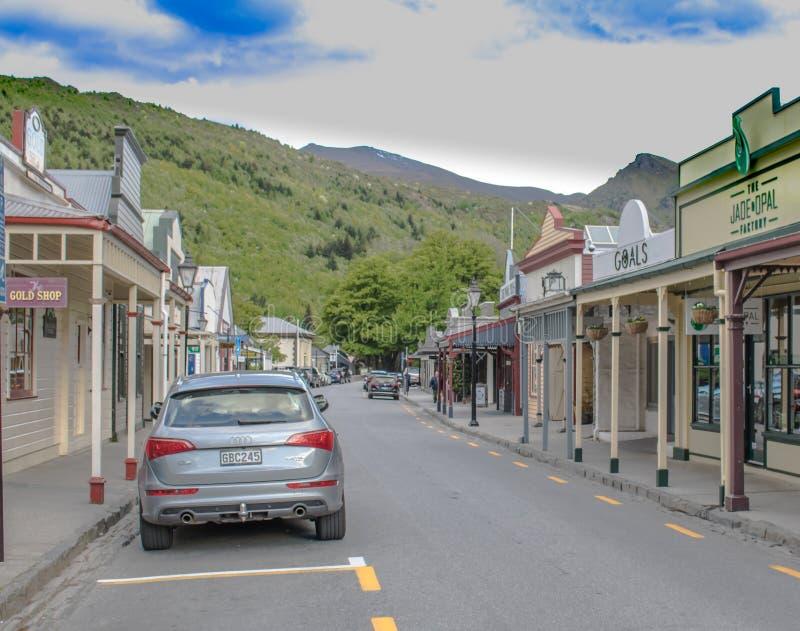 新西兰的一个马镇 免版税库存图片