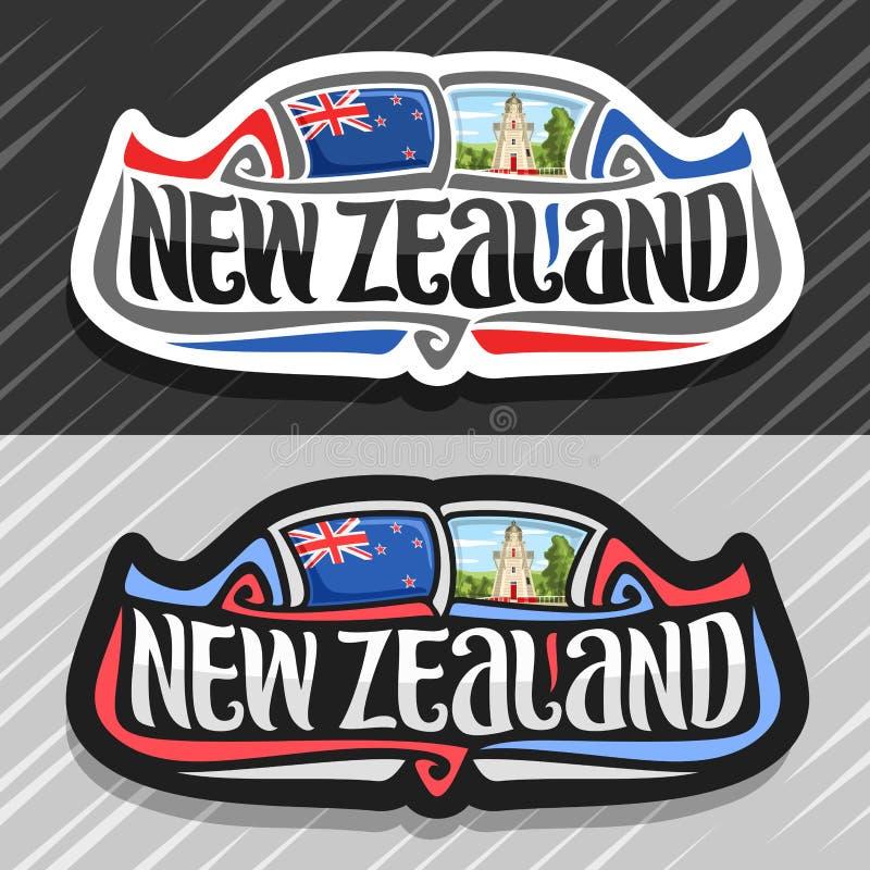 新西兰的传染媒介商标 向量例证