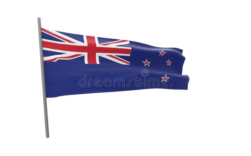 新西兰的旗子 库存例证