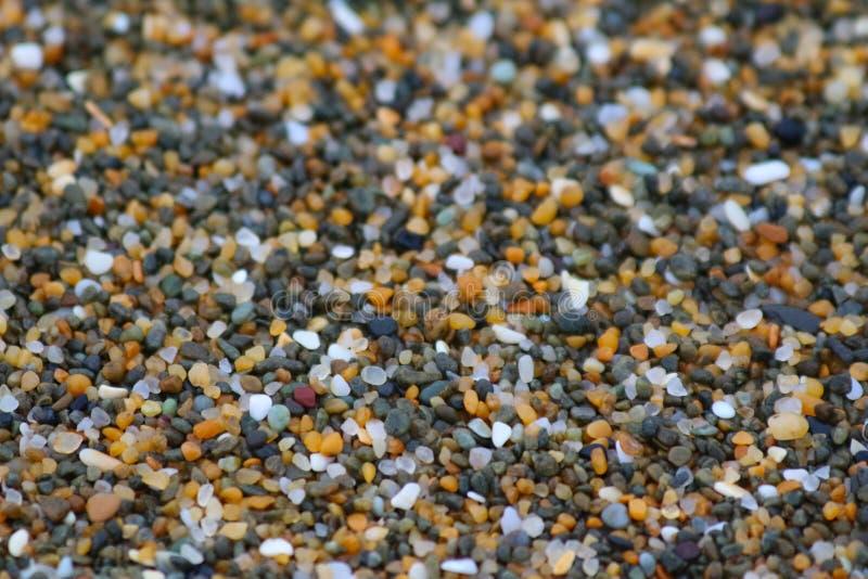新西兰的风景:沙粒,Kakanui海岸预备品,Awamoa - Oamaru,新西兰 图库摄影