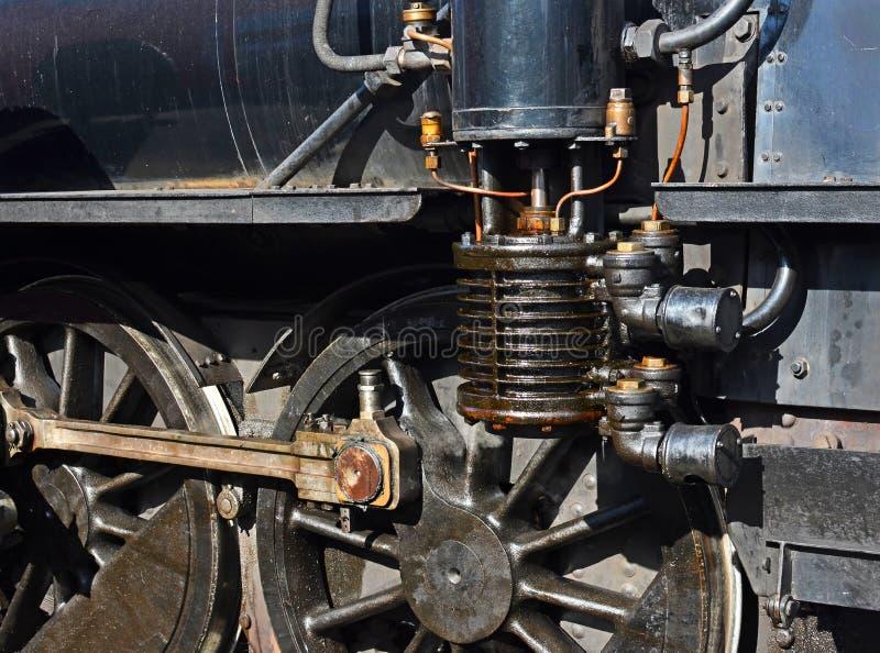 新西兰皮克顿市马尔伯勒·弗莱尔旅游蒸汽火车详细信息 免版税图库摄影