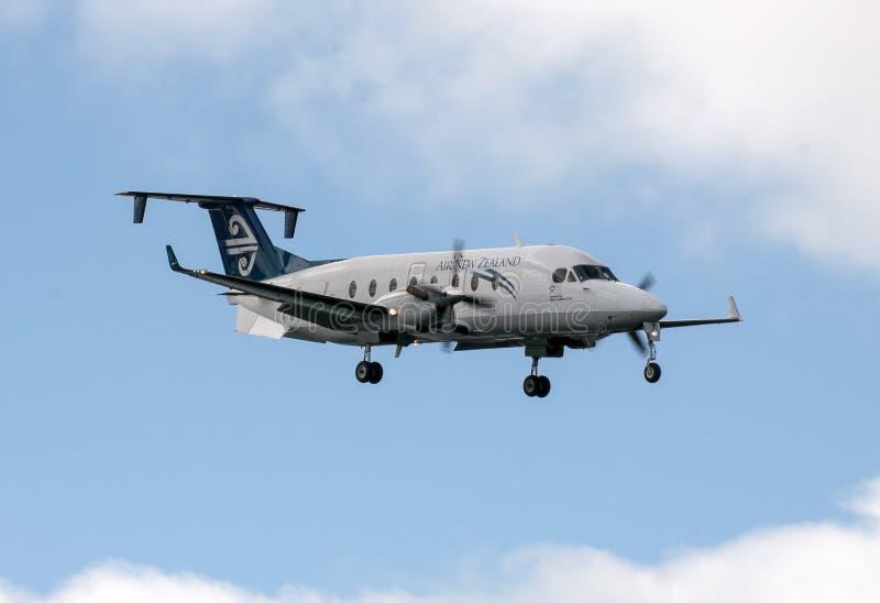 新西兰航空公司Beechcraft 1900D 库存图片