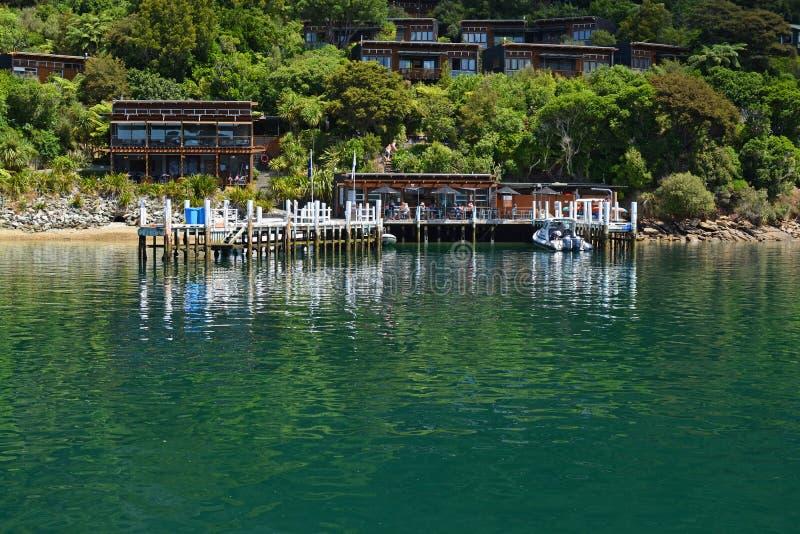 新西兰马尔伯勒湾许多科维斯度假村 库存照片