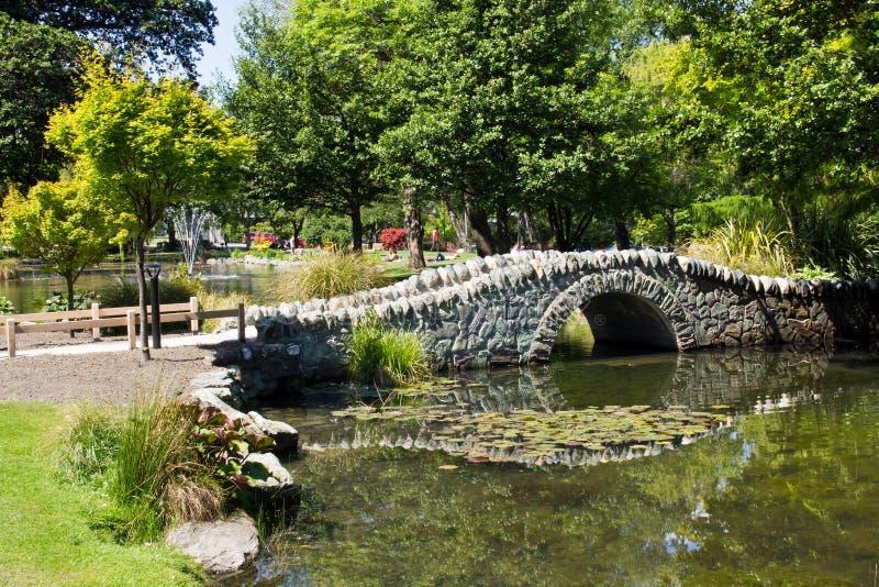 新西兰,昆斯敦庭院 免版税库存图片