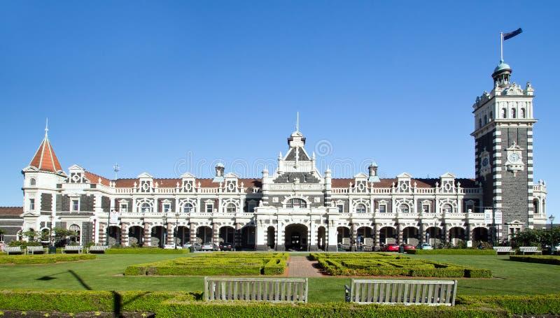 新西兰,达尼丁,火车站 免版税库存照片