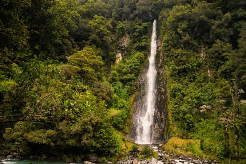 新西兰,登上Aspring国家公园 免版税库存照片