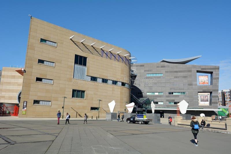新西兰Te爸爸Tongarewa博物馆  免版税图库摄影