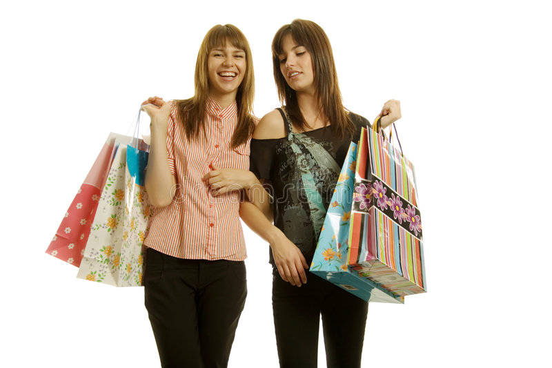 新购物的妇女 免版税库存图片