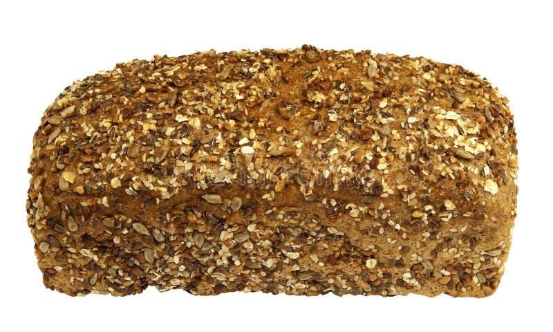 新近地被烘烤的健康发芽的整个五谷面包 图库摄影