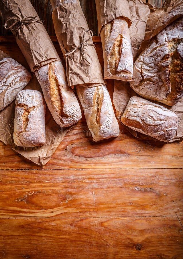 新近地被烘烤的可口面包 库存照片