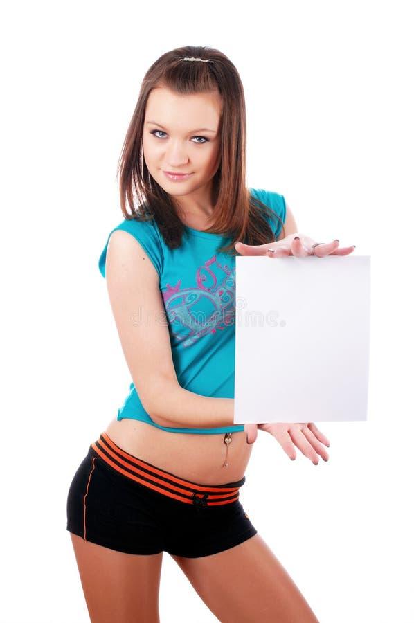 新迷人的女孩 免版税图库摄影