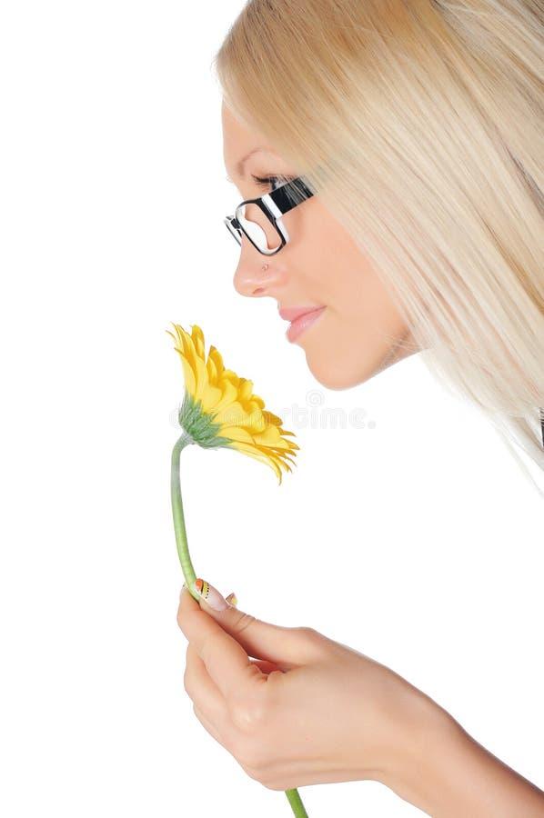 新迷人的金发碧眼的女人 库存图片