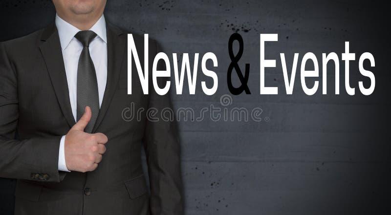新闻和事件概念和商人与赞许 库存图片