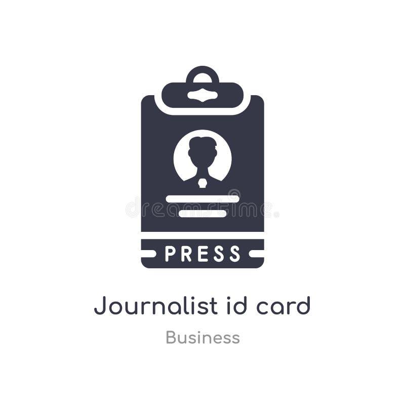 新闻工作者身份证概述象 r 编辑可能的稀薄的冲程新闻工作者id 向量例证
