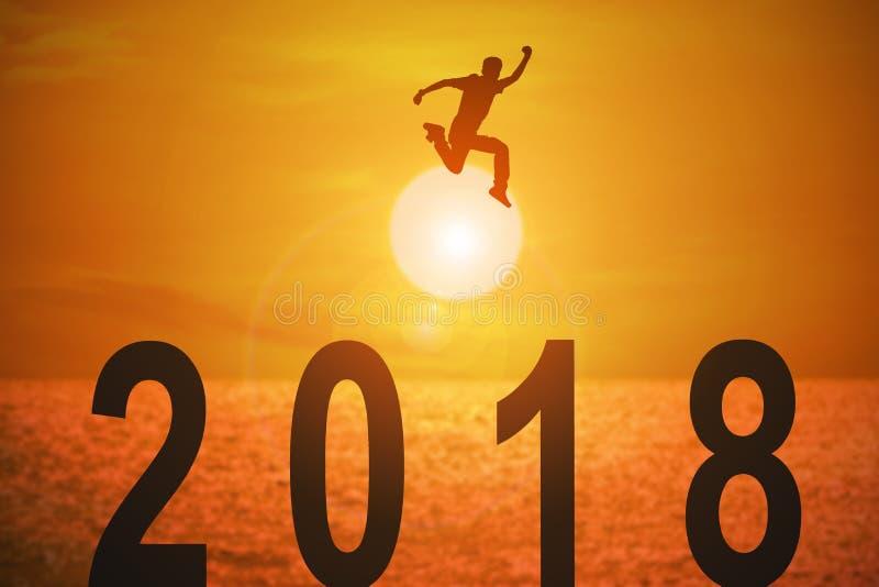 2018新闻年和概念事务和目标的 向量例证