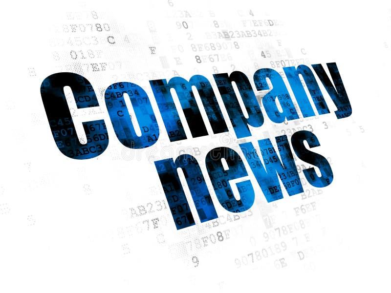 新闻概念:在数字式背景的公司新闻 免版税库存照片