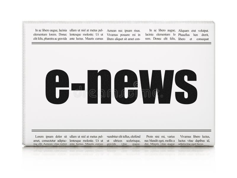 新闻概念:报纸大标题E新闻 免版税库存图片