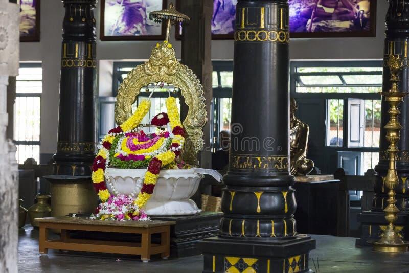 新闻纪录片的社论 Sri Ramana Maharshi, Tiruvannamalai,泰米尔纳德邦,印度- 3月聚会所大约, 2018年 未认出的妇女 图库摄影