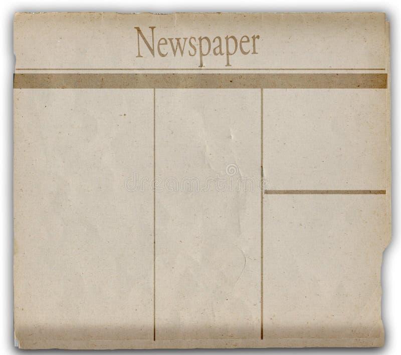新闻纸张 皇族释放例证