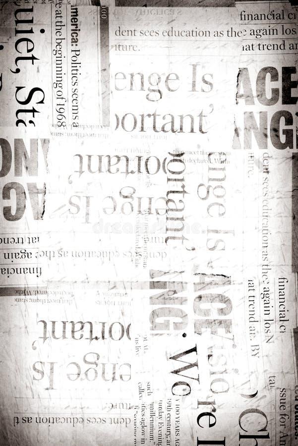 新闻老纸张 库存图片