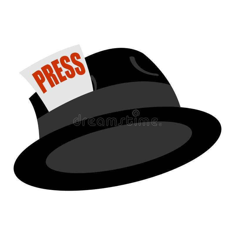 新闻记者葡萄酒帽子 库存例证
