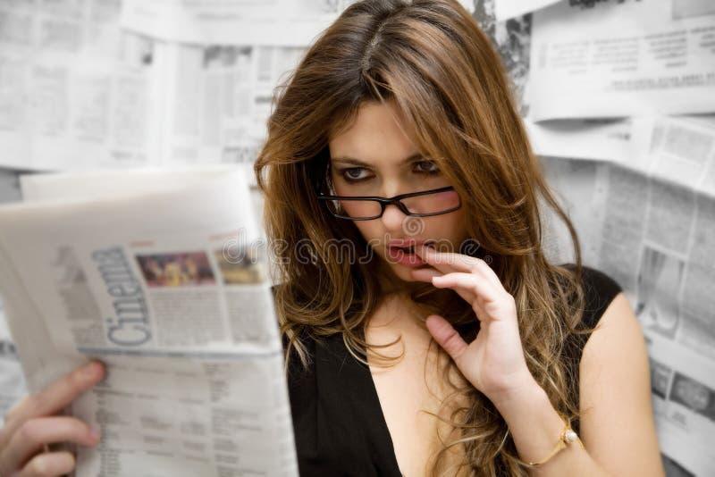 新闻记者 免版税库存图片