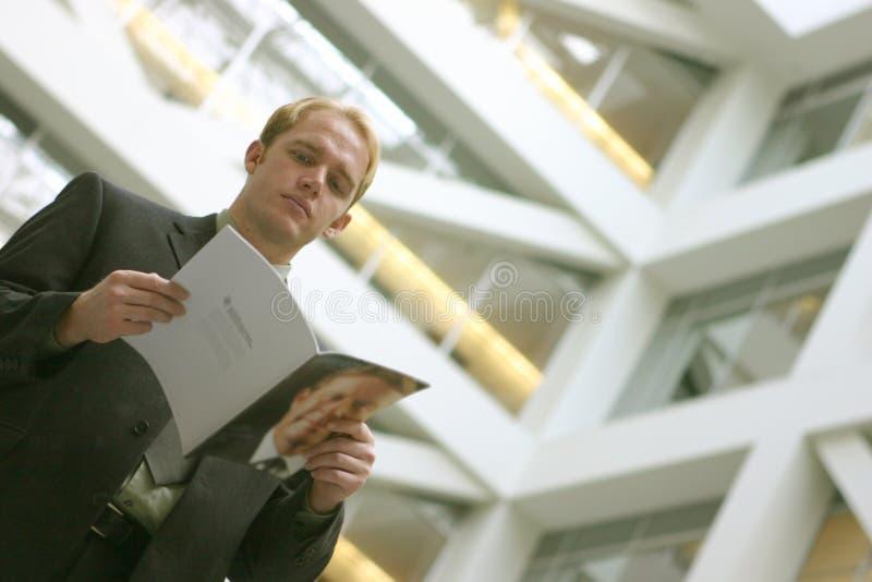 新闻读取 免版税库存图片