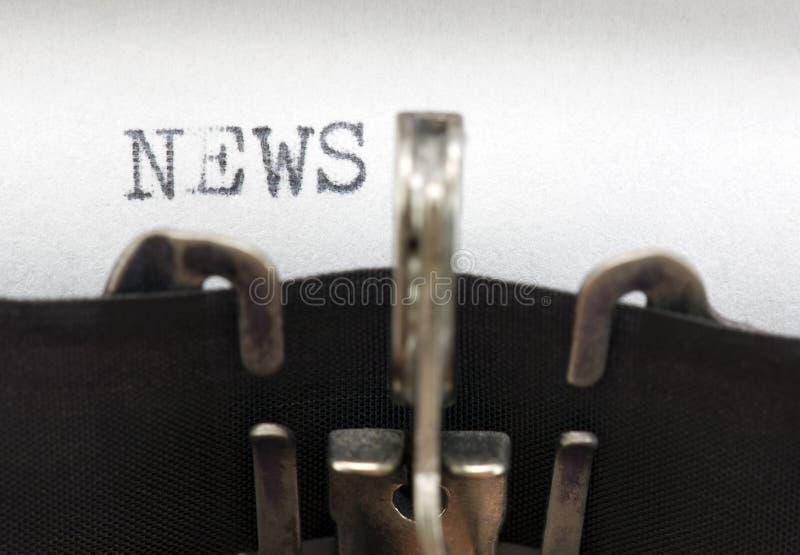 新闻 免版税库存图片