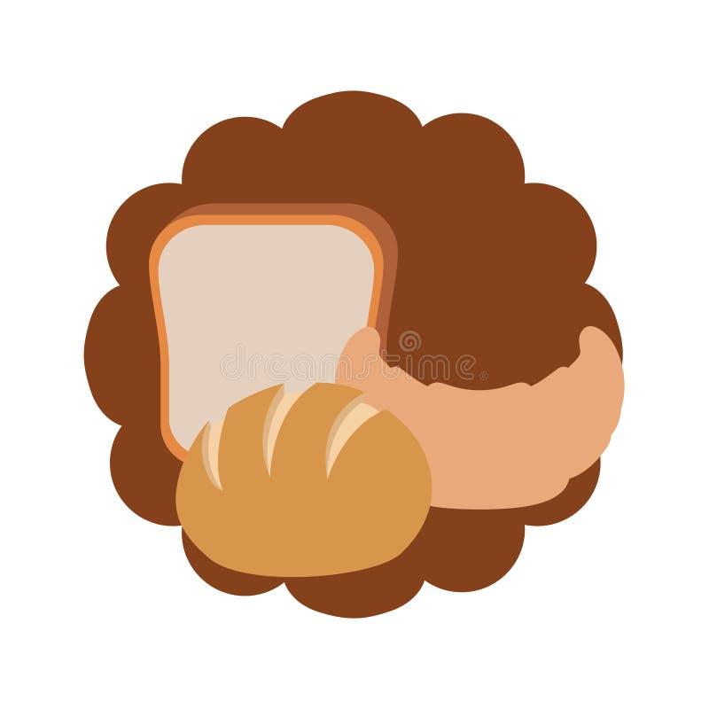 新鲜和可口面包店面包 库存例证