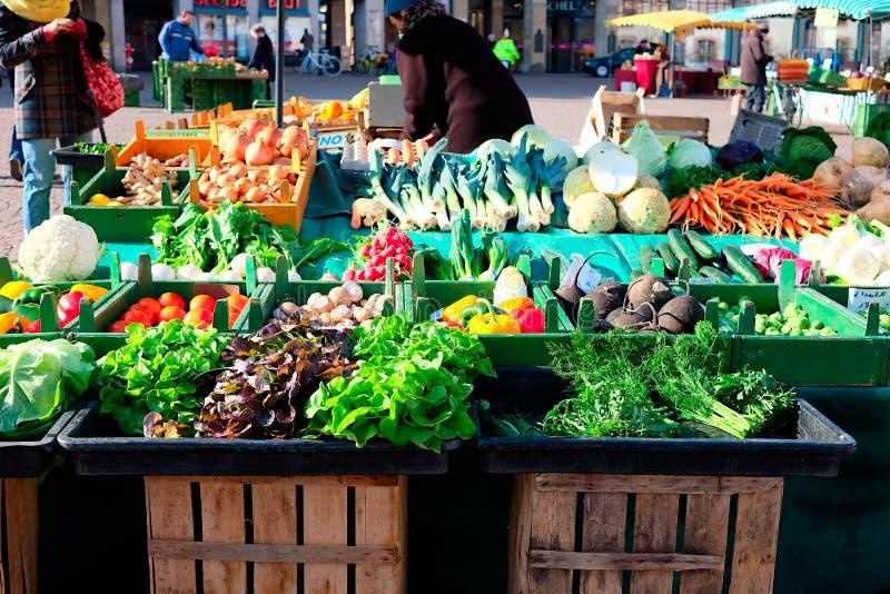 新鲜市场蔬菜 图库摄影