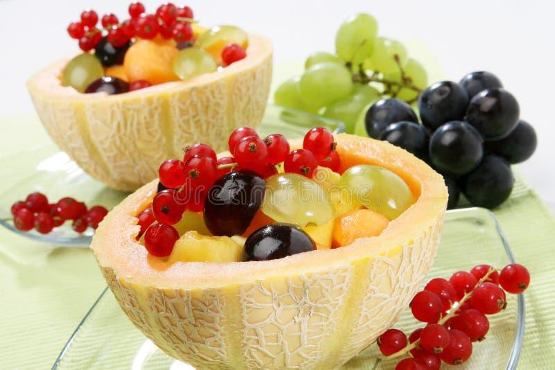 新鲜水果凉拌生菜 免版税图库摄影