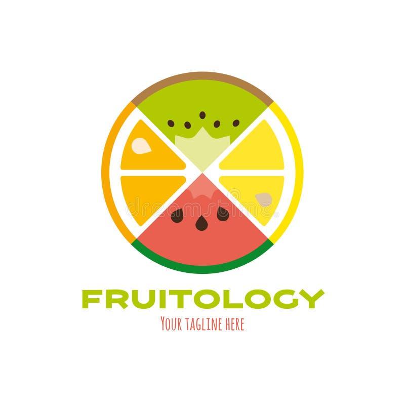 新鲜水果商标模板 皇族释放例证