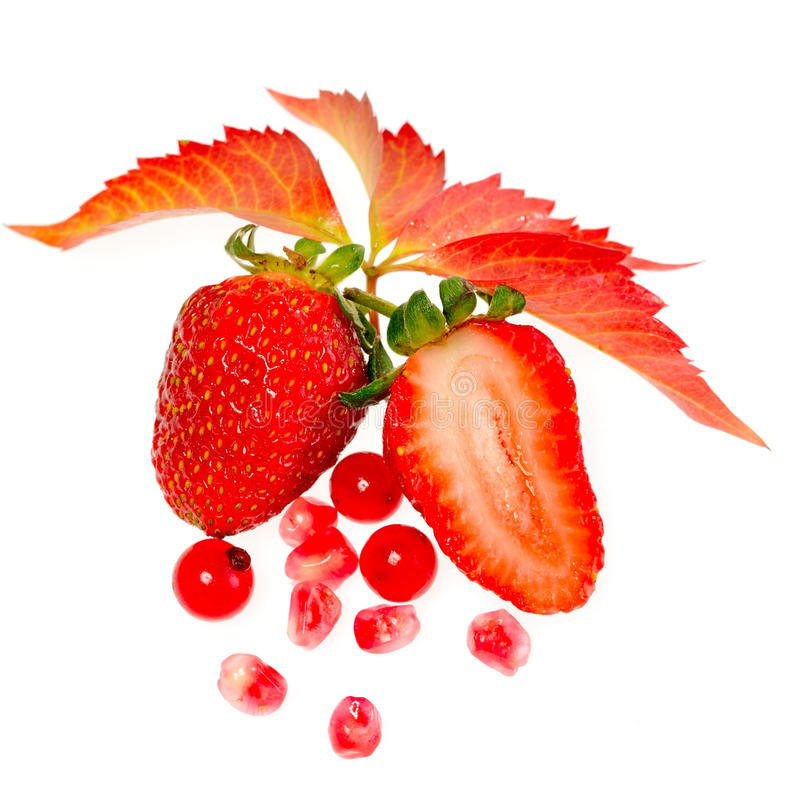 新鲜水果查出白色 库存图片