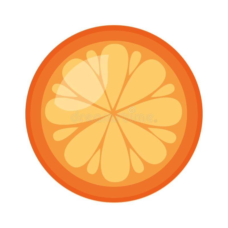 新鲜水果桔子 皇族释放例证