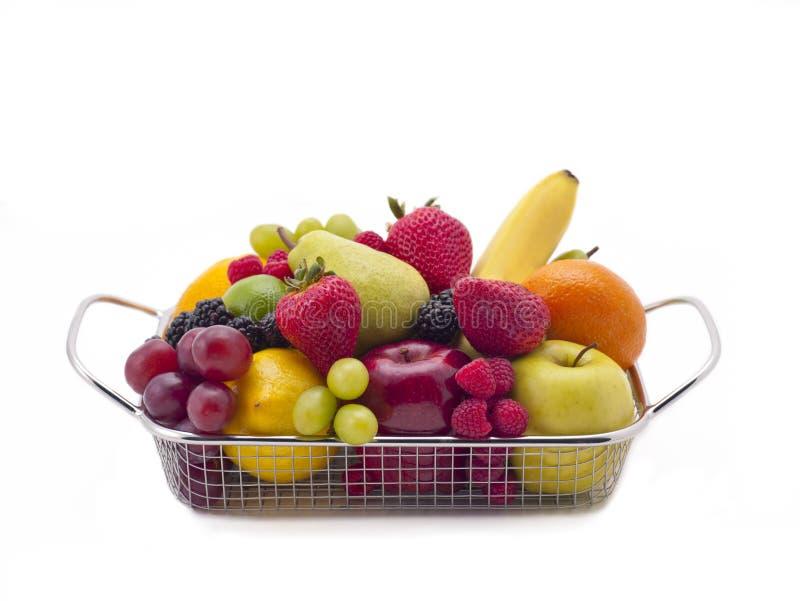 新鲜水果篮子 免版税库存照片