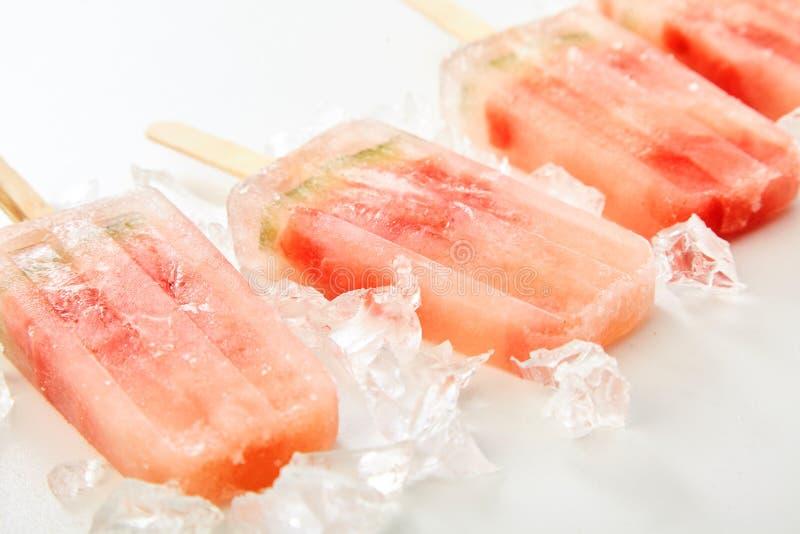 新鲜水果结冰的冰棍儿用西瓜 库存照片