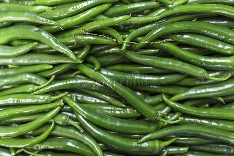 新鲜水果蔬菜 绿色辣椒 库存照片